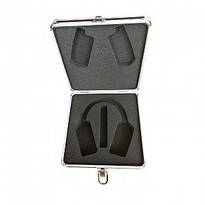 Aluminum Headset Case with Leather Surface