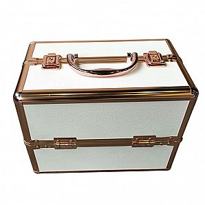 Professional Cosmetic Case with Gold Profile
